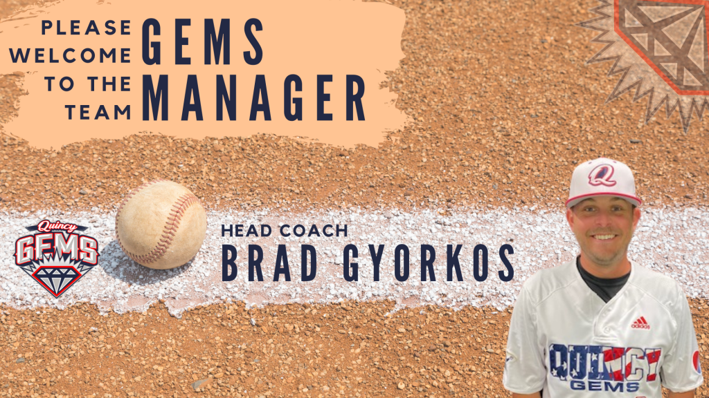 Quincy Gems Announce New Manager